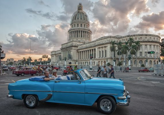 See all the sights on a classic car Havana Tour