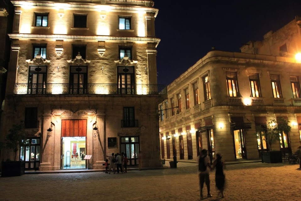 Plaza Vieja in Old Havana night view