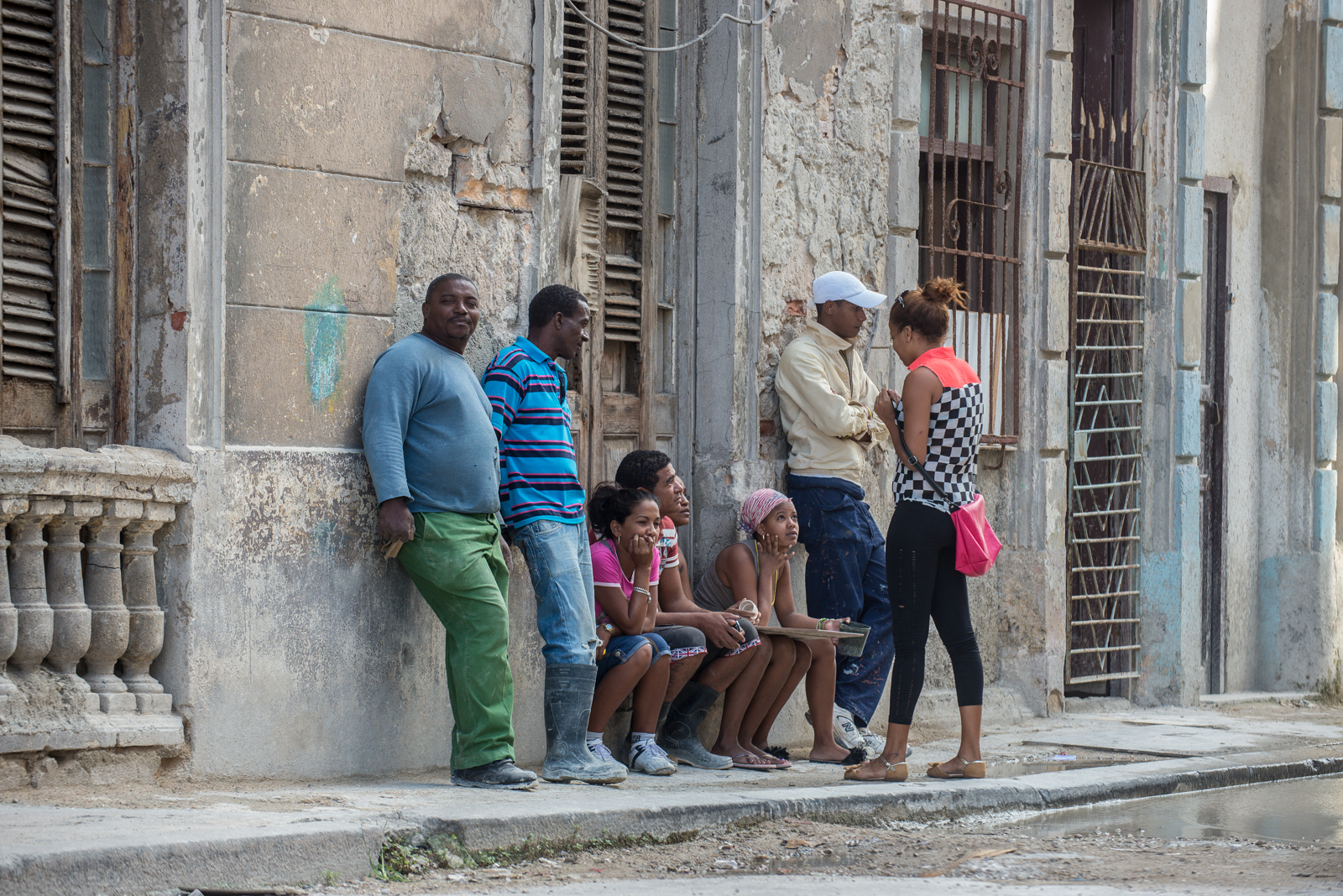 People in Havana streets