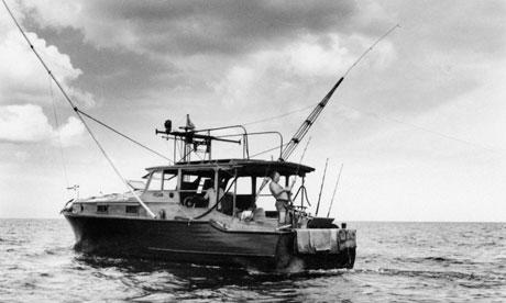 Ernest Hemingway On The Boat Pilar In Cuba