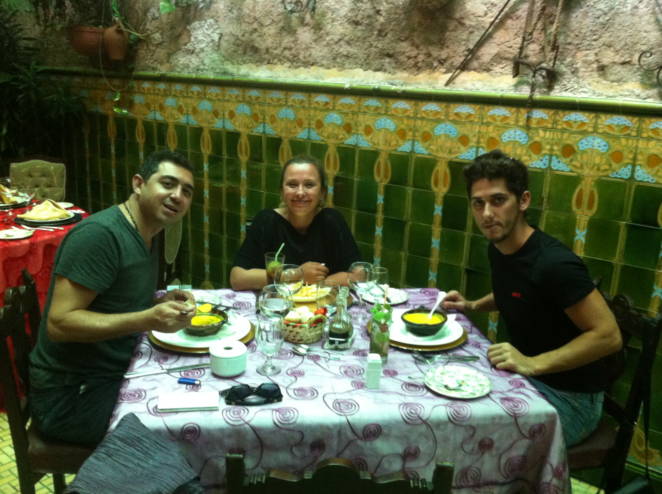 Having lunch in San Cristobal Paladar while running a Havana day tour
