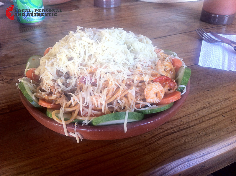 espaguettis en la botija trinidad