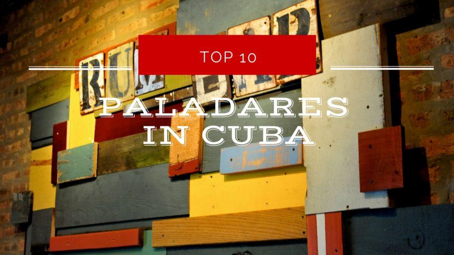 paladares in Cuba