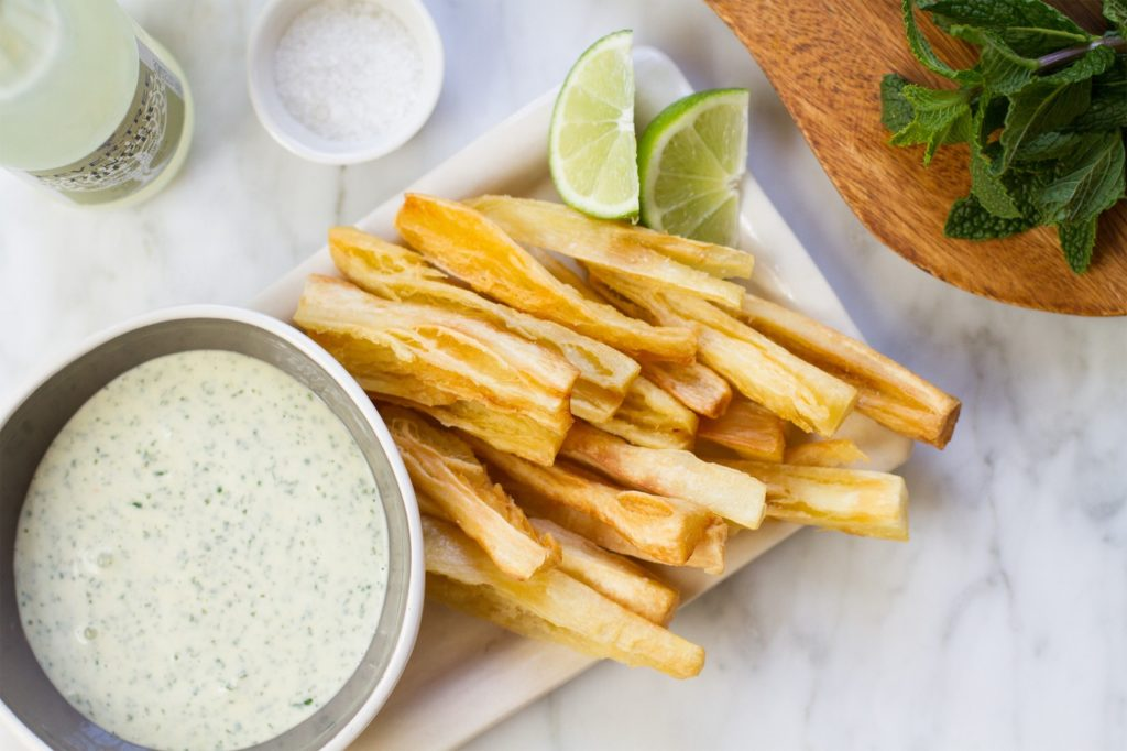 yucca chips fries